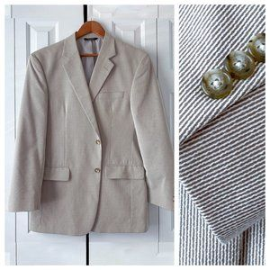 Refined Jos A Bank Seersucker Mini Stripe Blazer